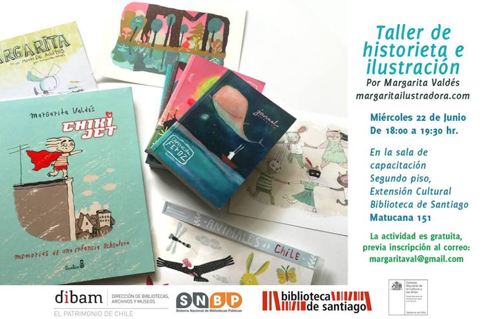 """Taller de Historieta e Ilustración"" en Biblioteca de Santiago"